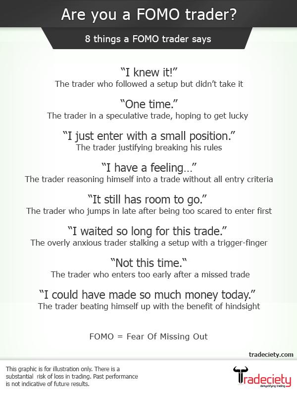 8 lucruri pe care le spun traderii FOMO